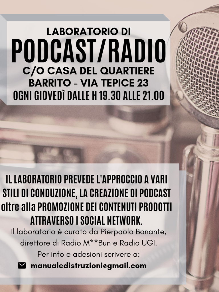 Barrito - Podcast - Poster Laboratorio